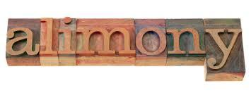 alimony block letters